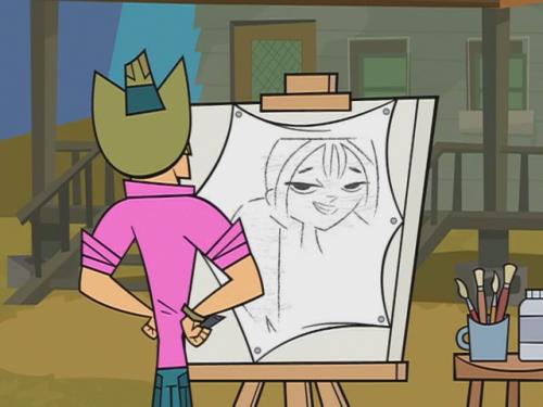 Geoff dibuja a Bridgette