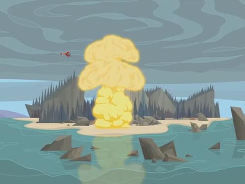 Explosion Isla